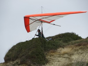 Tony flying a Falcon off the dunes.
